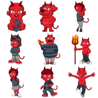 Red devils. PNG - JPG and infinitely scalable vector EPS - on white or transparent background.