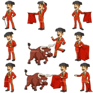 Spanish bullfighter. PNG - JPG and infinitely scalable vector EPS - on white or transparent background.