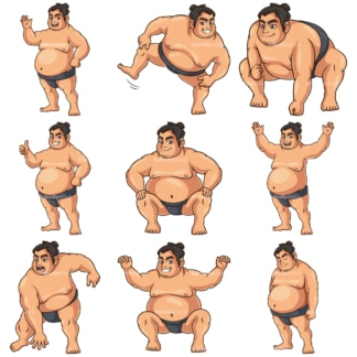 Sumo wrestler. PNG - JPG and infinitely scalable vector EPS - on white or transparent background.