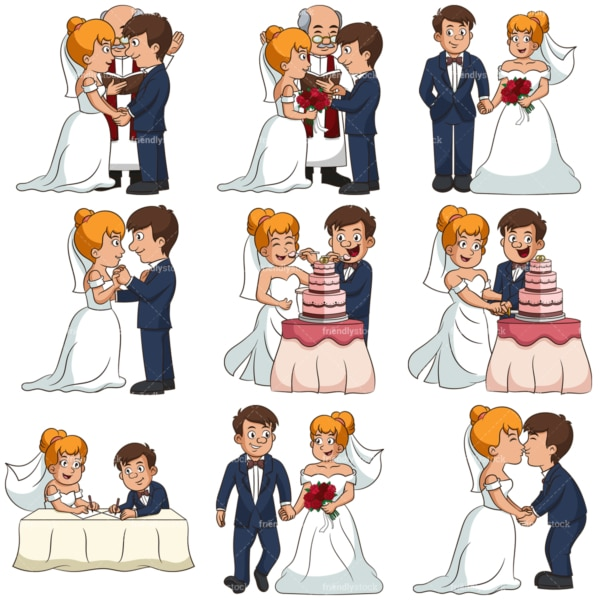 Traditional marriage. PNG - JPG and infinitely scalable vector EPS - on white or transparent background.