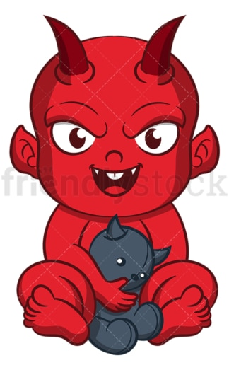 Baby devil. PNG - JPG and vector EPS (infinitely scalable).