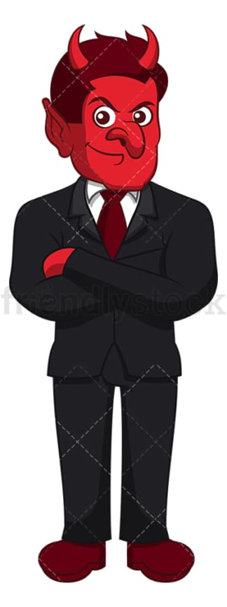 Devil in business suit. PNG - JPG and vector EPS (infinitely scalable).