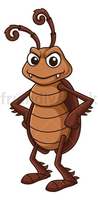 Serious cockroach. PNG - JPG and vector EPS file formats (infinitely scalable). Image isolated on transparent background.