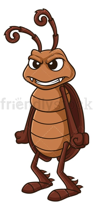 Angry cockroach. PNG - JPG and vector EPS file formats (infinitely scalable). Image isolated on transparent background.