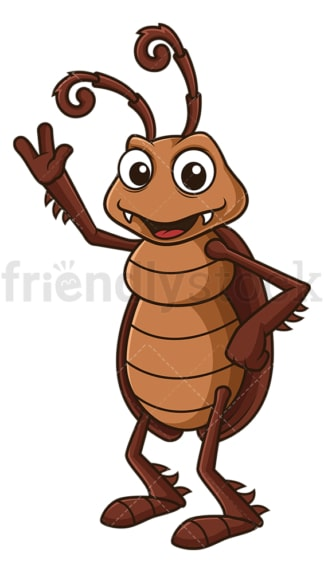 Happy cockroach. PNG - JPG and vector EPS file formats (infinitely scalable). Image isolated on transparent background.