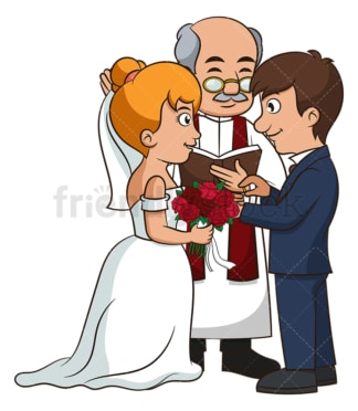 Couple getting married. PNG - JPG and vector EPS (infinitely scalable).