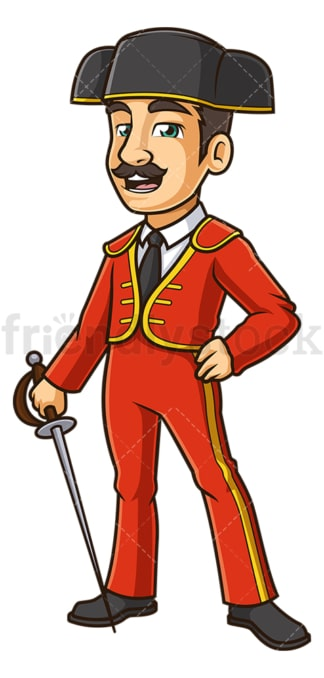 Matador holding sword. PNG - JPG and vector EPS (infinitely scalable).