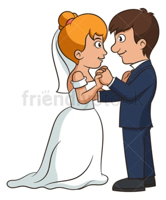 Newlywed couple dancing. PNG - JPG and vector EPS (infinitely scalable).