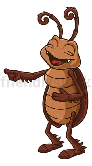 Cockroach laughing. PNG - JPG and vector EPS file formats (infinitely scalable). Image isolated on transparent background.