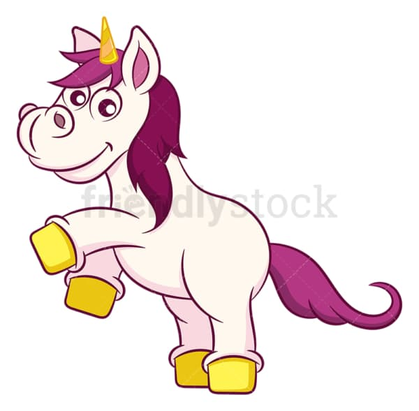 Excited unicorn rears. PNG - JPG and vector EPS (infinitely scalable).
