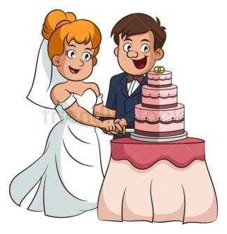 Newlywed couple wedding cake. PNG - JPG and vector EPS (infinitely scalable).
