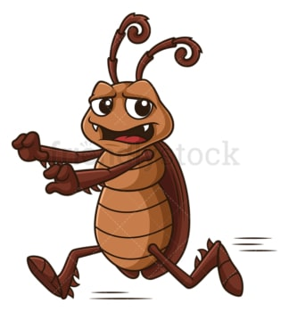 Scared cockroach running. PNG - JPG and vector EPS file formats (infinitely scalable). Image isolated on transparent background.