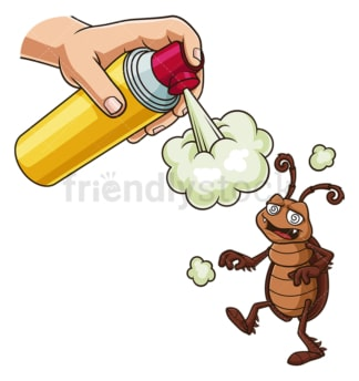 Cockroach repellent spray. PNG - JPG and vector EPS file formats (infinitely scalable). Image isolated on transparent background.