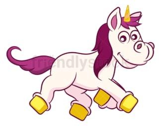 Unicorn lying down. PNG - JPG and vector EPS (infinitely scalable).
