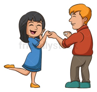 Woman saying yes to marriage proposal. PNG - JPG and vector EPS (infinitely scalable).