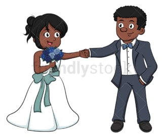 African-American married couple. PNG - JPG and vector EPS (infinitely scalable).