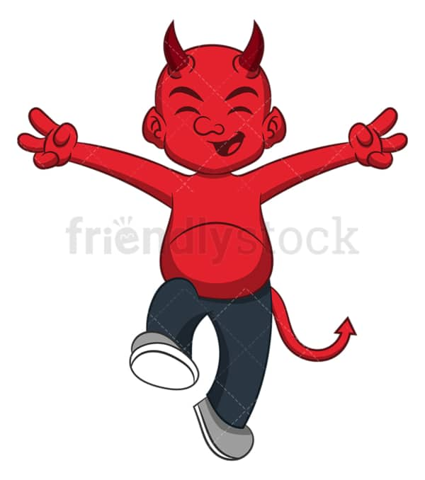 Happy devil. PNG - JPG and vector EPS (infinitely scalable).