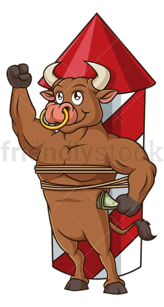 Stock market bull. PNG - JPG and vector EPS (infinitely scalable).
