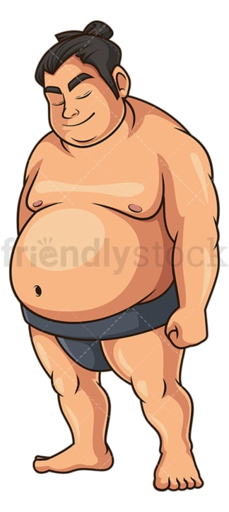 Sumo wrestler bowing. PNG - JPG and vector EPS (infinitely scalable).