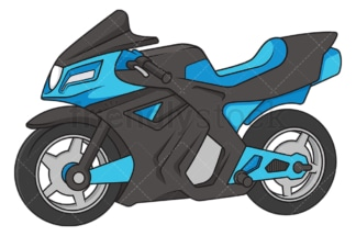 Blue motorcycle. PNG - JPG and vector EPS file formats (infinitely scalable). Image isolated on transparent background.