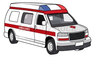 Rescue ambulance. PNG - JPG and vector EPS file formats (infinitely scalable). Image isolated on transparent background.