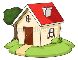 Small house. PNG - JPG and vector EPS (infinitely scalable).