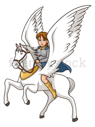 Valkyrie on winged horse. PNG - JPG and vector EPS (infinitely scalable).