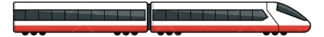 Bullet train side view. PNG - JPG and vector EPS file formats (infinitely scalable). Image isolated on transparent background.