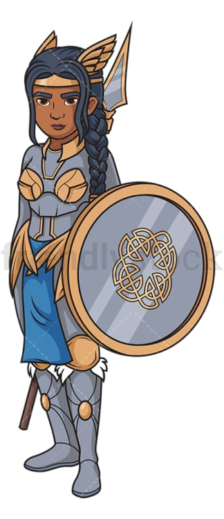 Valkyrie shield-maiden. PNG - JPG and vector EPS (infinitely scalable).
