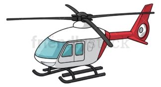 Light helicopter. PNG - JPG and vector EPS file formats (infinitely scalable). Image isolated on transparent background.