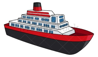Passenger boat. PNG - JPG and vector EPS file formats (infinitely scalable). Image isolated on transparent background.