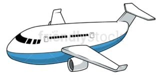 Large airplane. PNG - JPG and vector EPS file formats (infinitely scalable). Image isolated on transparent background.