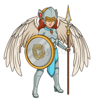 Valkyrie in heavy armor. PNG - JPG and vector EPS (infinitely scalable).