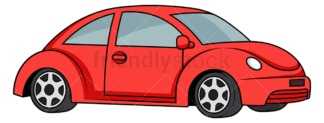 Simple red car. PNG - JPG and vector EPS file formats (infinitely scalable). Image isolated on transparent background.