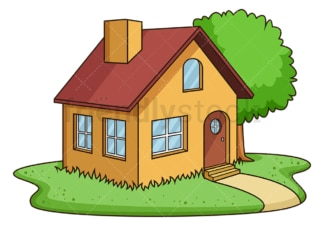 Country house. PNG - JPG and vector EPS (infinitely scalable).