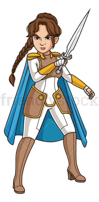 Valkyrie in battle stance. PNG - JPG and vector EPS (infinitely scalable).