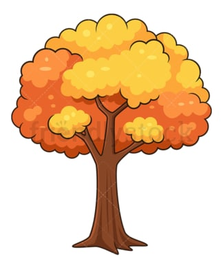 Autumn tree. PNG - JPG and vector EPS file formats (infinitely scalable). Image isolated on transparent background.