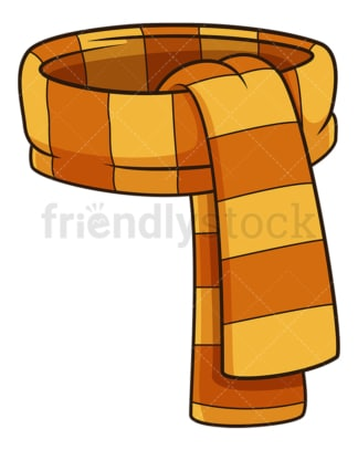 Autumn scarf. PNG - JPG and vector EPS file formats (infinitely scalable). Image isolated on transparent background.