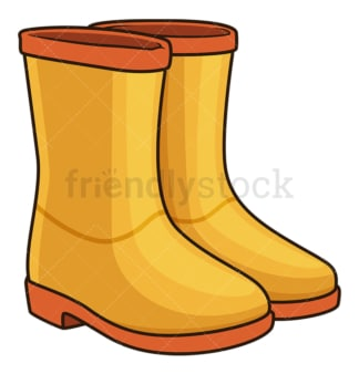 Autumn boots. PNG - JPG and vector EPS file formats (infinitely scalable). Image isolated on transparent background.