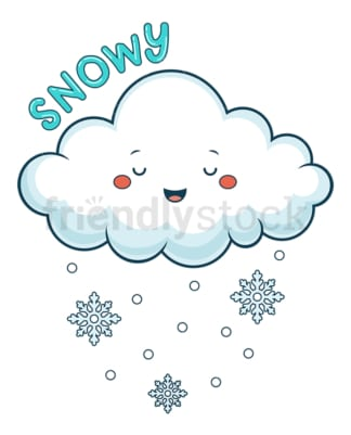 Weather emoji snowy. PNG - JPG and vector EPS file formats (infinitely scalable). Image isolated on transparent background.