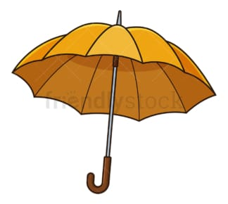 Yellow umbrella. PNG - JPG and vector EPS file formats (infinitely scalable). Image isolated on transparent background.