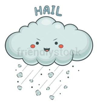 Weather emoji hail. PNG - JPG and vector EPS file formats (infinitely scalable). Image isolated on transparent background.
