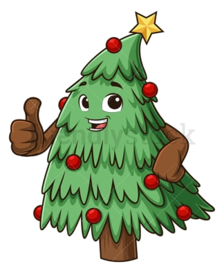 Christmas tree thumbs up. PNG - JPG and vector EPS (infinitely scalable).