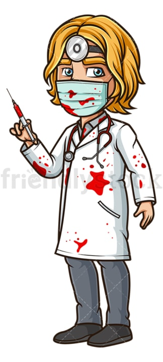 Man killer doctor costume. PNG - JPG and vector EPS (infinitely scalable).