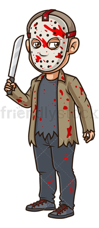 Man serial killer costume. PNG - JPG and vector EPS (infinitely scalable).