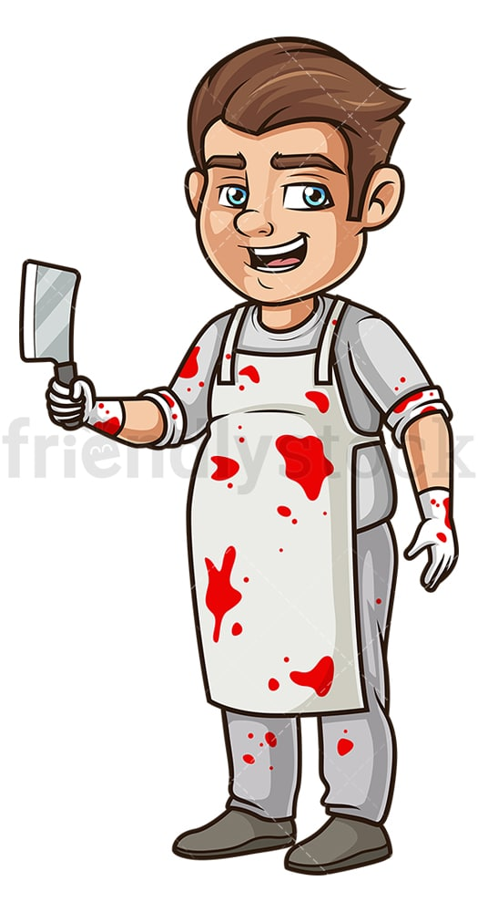 Man butcher costume. PNG - JPG and vector EPS (infinitely scalable).