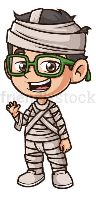 Kid mummy costume. PNG - JPG and vector EPS (infinitely scalable).