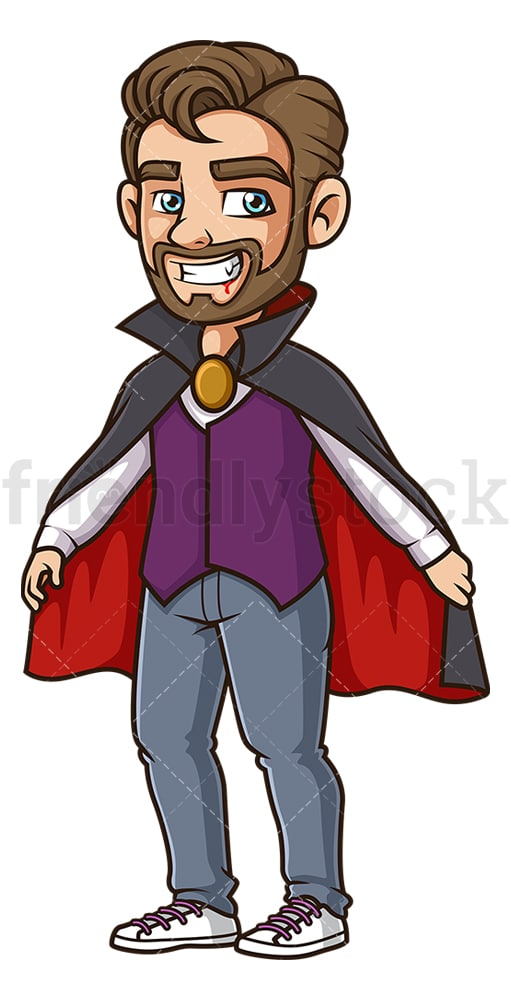 Man vampire costume. PNG - JPG and vector EPS (infinitely scalable).