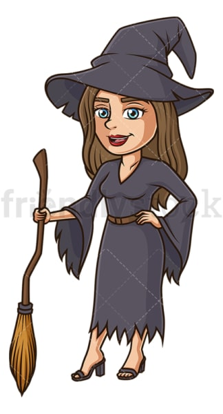Woman witch costume. PNG - JPG and vector EPS (infinitely scalable).