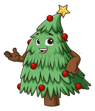 Christmas tree presenting. PNG - JPG and vector EPS (infinitely scalable).